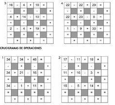 Crucigramas de Operaciones