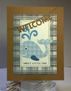 Crafting While I Wait: Perfectly Plaid Baby Cards with Dies R Us