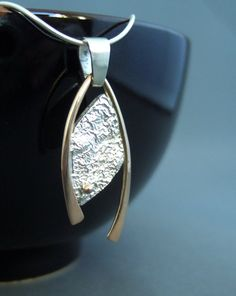 """Reticulated pendant by ~SongBird55 on deviantART """"Reticulation silver, 14kt gold"""""""