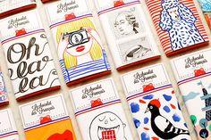 Punchy Chocolate Packaging : vibrant fudge branding