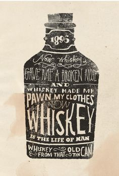 Cool whiskey drawing