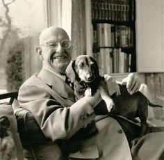 "P.G. Wodehouse and ""Jed"".  P G Wodehouse is widely regarded as the greatest comic author of the 20th century. He wrote more than 70 novels and 200 short stories, creating numerous much-loved characters, including Lord Emsworth and his beloved Empress of Blandings, the inimitable Jeeves and Wooster.  Dachshund love."