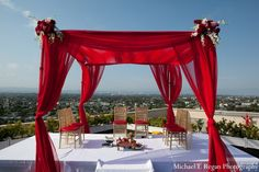 Mandap, chuppah, indian wedding decor, wedding design, wedding planning, south asian bride, modern, outdoor
