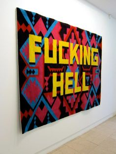 Roger Jardine's Wishlist: A Cameron Platter artwork Typography, Lettering, Woven Wall Hanging, Creative Industries, Type Design, Illustrators, Modern Art, Needlework, Hand Weaving