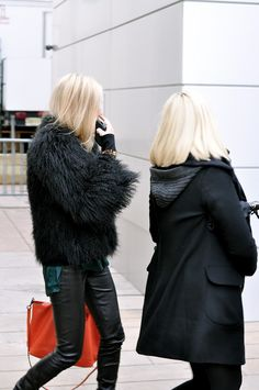 Blondes in black.#Repin By:Pinterest++ for iPad#