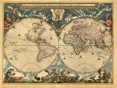 Map of the world - vintage.