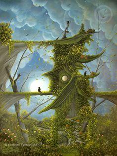 The Witch House by Philippe Fernandez Mystical Art, Fantasy, Fantasy Art, Painting, Illustration Art, Art, Halloween Art, Fairytale Art, Beautiful Art