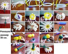 Мобильный LiveInternet Цветы из шаров для моделирования ,фотоинструкции   ГалаНика - Дневник ГалаНика  