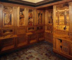 Studiolo Federico da Montefeltro, Urbino, Palazzo Ducale, Italy