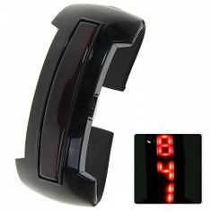 $4.54 Digital Sport Bracelet Quartz Watch with Rectangle Dial Rubber Watchband for Women (Black)