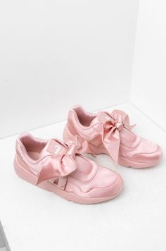Puma X Fenty Bow Sneakers in Silver Pink, Olive, Pink Tint and Lavender