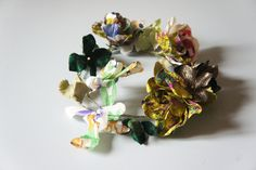 Lovely silk flowers crown, via Etsy.