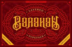 Barakah Layered Typeface + Extras - Display