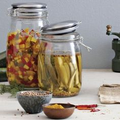 Spicy Zucchini Pickles by Kevin West of Saving the Season