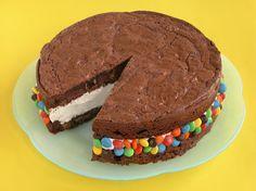 M&M'S Brownie Ice Cream Sandwich Recipe - What's better than an ice cream sandwich? An easy recipe for a brownie ice cream sandwich with M&M'S.