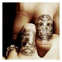 Matching Skull Tattoos - I love this!