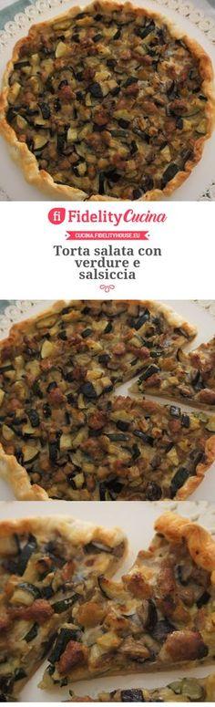 Torta salata con verdure e salsiccia