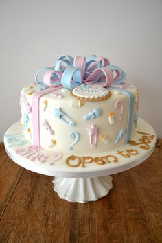 Extraordinary Baby Shower Cakes Bolo Cha De Revelacao Bolo