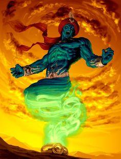 Resultado de imagem para djinn fantasy art