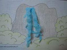 Paper Waterfall - craft for kids