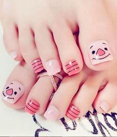 Feet Nail Design, Toe Nail Designs, Beautiful Nail Designs, Beautiful Nail Art, Toe Nail Art, Acrylic Nails, Acrylic Art, Chevron Nails, Nail Art Pictures