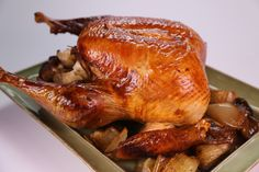 Michael Symon Oven Smoked Turkey with Sage and Thyme - The Chew Recipes Turkey Dishes, Turkey Recipes, Fall Recipes, Holiday Recipes, Dinner Recipes, Smoked Turkey, Roasted Turkey, Tom Turkey, Turkey Time