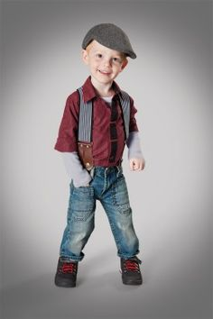 Love the hat and suspenders look for Jackson!  (Holiday Clothes - Kids' Clothes - Parenting.com)