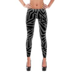 Stylish, durable, and a hot fashion staple. These polyester/spandex leggings are made of a comfortable microfiber yarn, and theyll never lose their stretch. • Fabric is 82% polyester, 18% spandex • Four-way stretch • Elastic waistband • Imported fabric thats cut, sewn, and printed in California