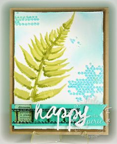 Eclectic Paperie: Embossed Fern Leaf for the August 2014 ePlay challenge: Embossing (by Broni Holcombe)