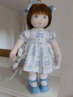 BUNNIE. A 15inch OOAK Handmade cloth/rag doll by Brenda Brightmore. | eBay