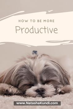 You feel you're not productive anymore? Do you feel lazy when you need to…
