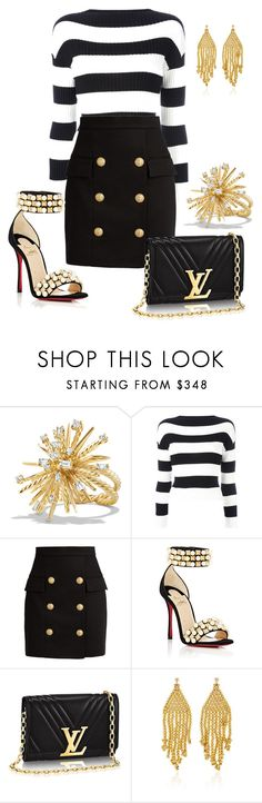 """Sin título #512"" by misvivi ❤ liked on Polyvore featuring David Yurman, Boutique Moschino, Balmain, Christian Louboutin and Magdalena Frackowiak"