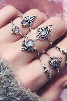 FREE SHIPPING - #rings #jewelry #ring #earrings #jewellery #fashion #gold #necklace #love #silver #bracelets #accessories #diamonds #handmade #wedding #diamond #style #bracelet #handmadejewelry #necklaces #jewelrydesigner #jewels #engagementring #luxury #jewelryaddict #weddingrings #k #ringsofinstagram #diamondring Fashion Rings, Fashion Jewelry, Mom Fashion, Mid Rings, Whimsical Fashion, Knuckle Rings, Dream Ring, Cute Jewelry, Beautiful Rings
