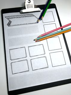 FREE set of note taking page layouts - Templates for student notes make it easy to create sketch notes / doodle notes to increase retention Notes Template, Layout Template, Templates, Co Teaching, Tools For Teaching, Note Taking Strategies, Reading Strategies, Visual Note Taking, Free Doodles