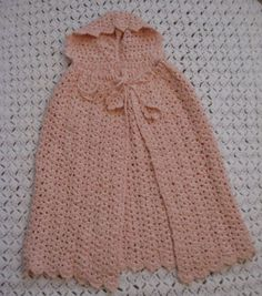 Image detail for -... cape this is a baby cape crocheted in pink salmon colored acrylic