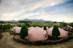 Capsule hotel, Aso Farm Land, Kumamoto |Japan