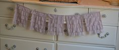 Rustic Ruffle Shabby Chic Wedding Bunting Banner Gray by LoveSews
