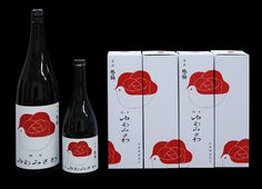 岡田善敬/日本酒 「ゆあみさわ」/ラベル・ケース Sweet bottle and boxed Saki I think PD