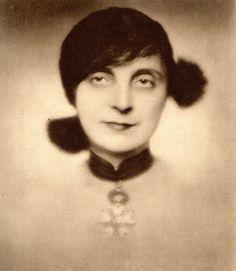 Portrait of Anna de Noailles, first women Commandeur de la Legion d'Honneur by Madame D'Ora, 1931