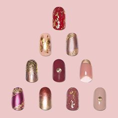 Gilty Pleasure | Our favorite looks featuring yellow gold from our FW'14 collection are on the blog: http://paint-box.com/blog-posts/gilty-pleasure #paintboxmani #nailart #goldnails