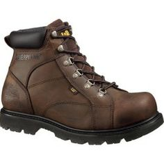 Buy Caterpillar Mens Mortar 6-Inch Steel Toe Work Boots Dark Brown 7 new - Classic Caterpillar style to set you apart from the...