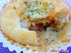 Cupcake de Atum com Requeijão Cremoso   Sabor no Prato