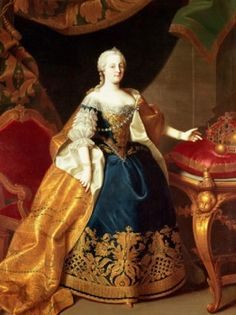 Maria Theresa of Austria 1717 - 1780; Maria Theresa succeeded her father, H. R. Emperor Charles VI, as empress of the Hapsburg controlled lands of Central Europe in 1740. She made her son, Joseph II, coregent in 1765 after the death of her husband.  Fredrick II of Brandenburg-Prussia initiated the War of Austrian Succession by invading, she was able to repel the invasion and preserve the Hapsburg state. Her reforms and political decisions were successful in strengthening the economy & state.