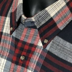 Flannel Clothing, Flannel Outfits, Flannel Shirt, New Boston, Southern Drawl, Red Button, Button Down Collar, New Man, Selling On Ebay