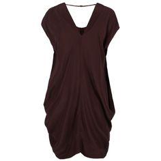 Oriana Dress ($158) ❤ liked on Polyvore featuring dresses, short dresses, vestidos, oxblood, short loose dresses, mini dress, origami dress, draped mini dress and short red dress