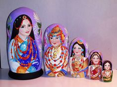 Country beauties -Tibet Matryoshka www.matrioskas.es