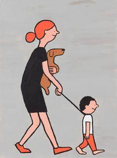 The Mom by Jean Jullien