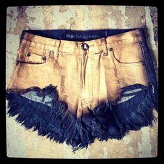 cintura alta + manchado = perfeito!