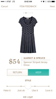 Market & Spruce Spencer Striped Jersey Dress - Navy & White. Would love a dress like this that you can just put on and go--soft and easy for summer.