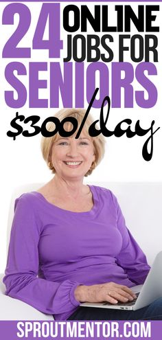 Are you a senior person looking for work from home jobs you can use to make money online with during your spare time? Check out these online jobs for seniors, retirees and other old people. #onlinejobs #workfromhomejobs #sidejobs #parttimejobs #money #finance #seniors #jobsforseniors